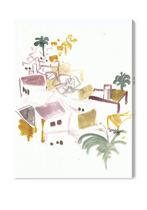 Denise Elnajjar - Roof tops In Ibiza World and Countries Wall Art Canvas Print