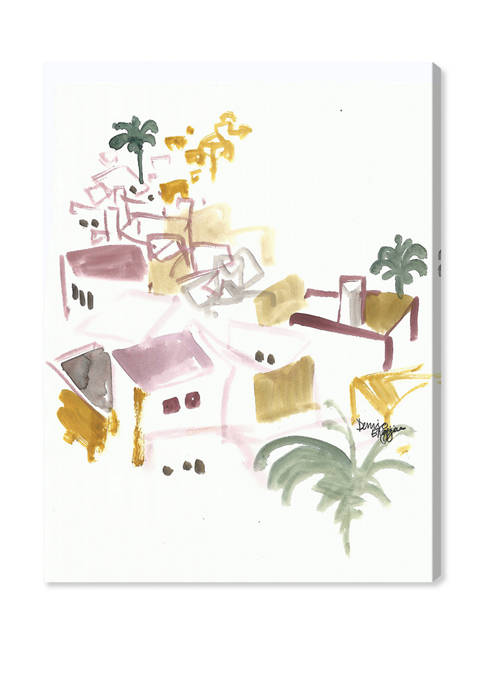 Denise Elnajjar Roof Tops In Ibiza World and Countries Wall Art Canvas Print