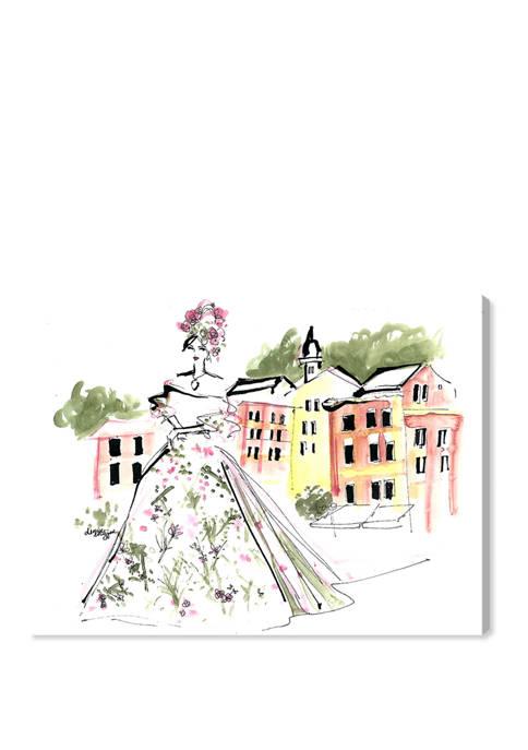 Denise Elnajjar - Dolce and Gabbana in Portofino Fashion and Glam Wall Art Canvas Print
