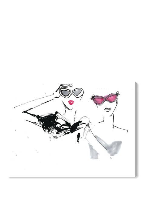 Denise Elnajjar - Oh The Shade Fashion and Glam Wall Art Canvas Print