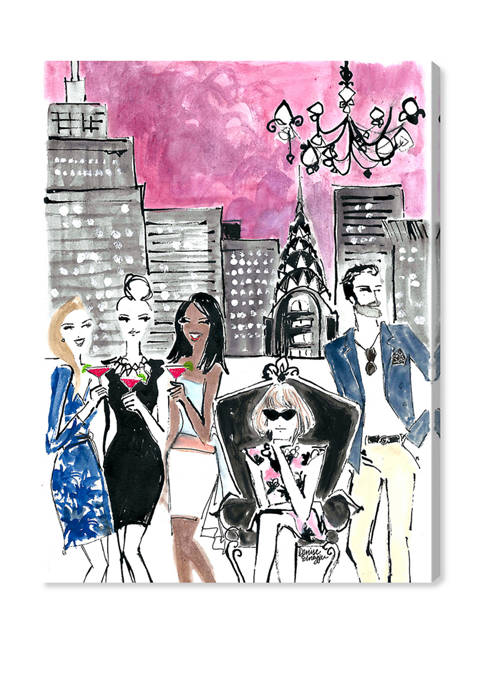 Denise Elnajjar - NYC Lights Cities and Skylines Wall Art Canvas Print