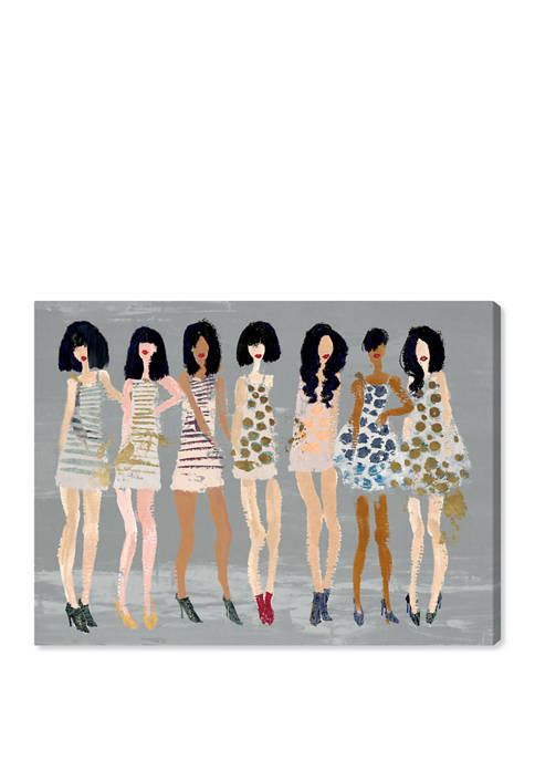 Gold Fashion and Girls Fashion and Glam Wall Art Canvas Print