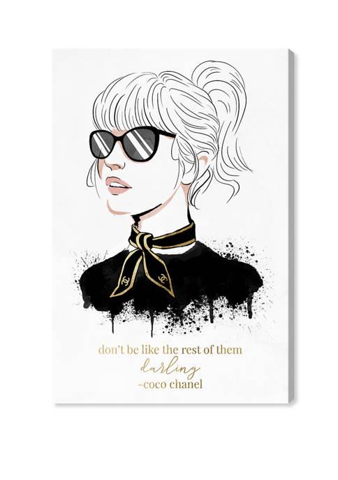 Elegant French Woman Fashion and Glam Wall Art Canvas Print