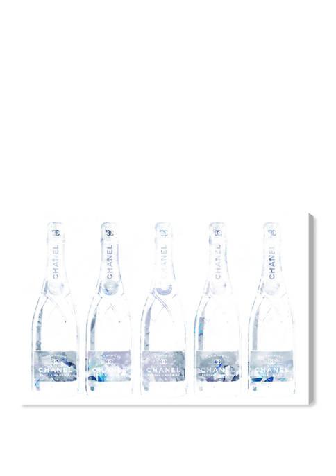 Drink Up Champane Grey Drinks and Spirits Wall Art Canvas Print