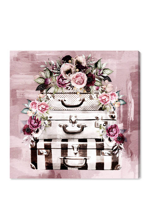 Flowers in My Suitcase Fall Floral and Botanical Wall Art Canvas Print