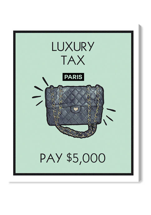 Luxury Purse Card Fashion and Glam Wall Art Canvas Print