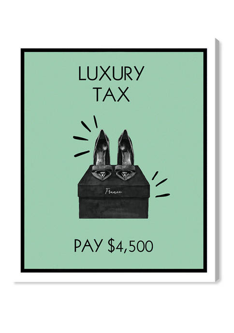 Luxury Shoes Card Fashion and Glam Wall Art Canvas Print
