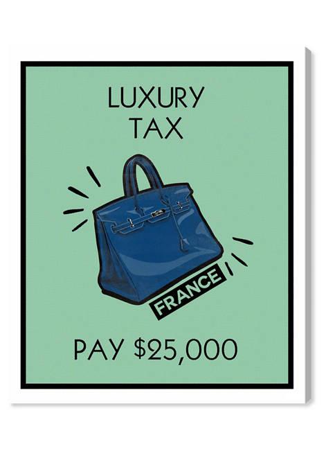 Luxury Tax Purse Card Fashion and Glam Wall Art Canvas Print