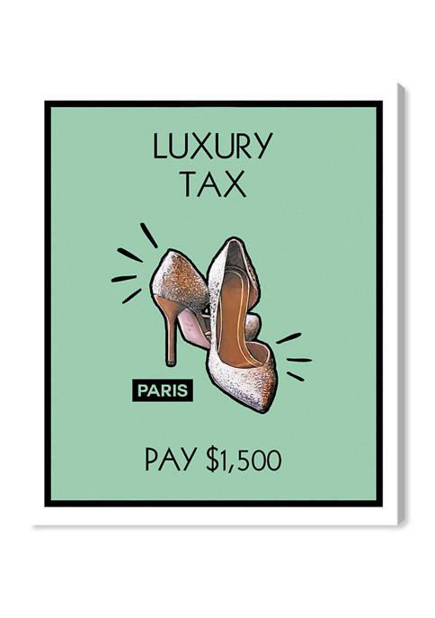 Paris Shoes Card Fashion and Glam Wall Art Canvas Print