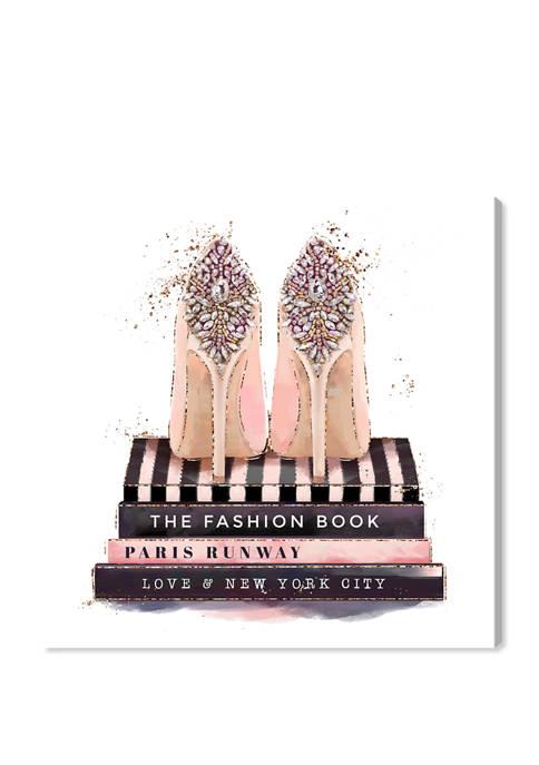 Oliver Gal Fashion Books and Treasured Shoes Fashion