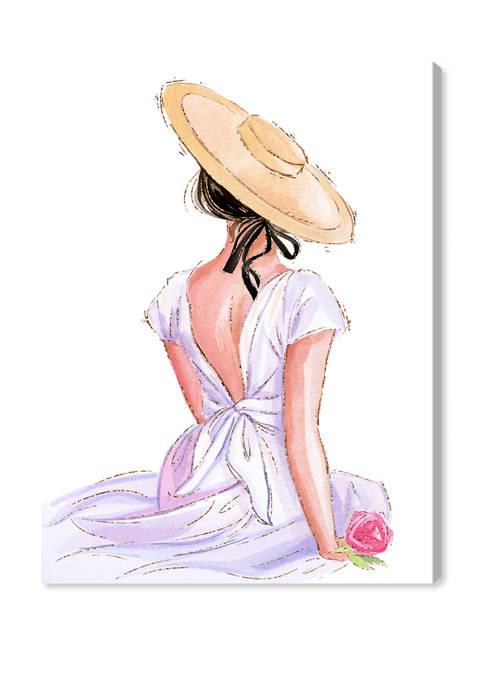Summer White Dress III Fashion and Glam Wall Art Canvas Print