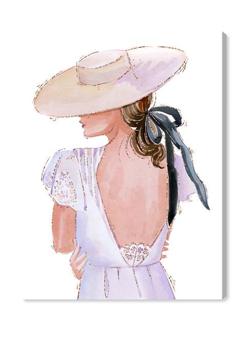 Summer White Dress II Fashion and Glam Wall Art Canvas Print
