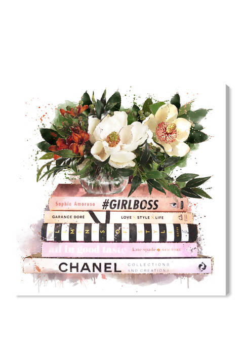Blush Girlboss Fashion and Glam Wall Art Canvas Print