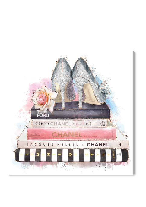 Silver Blush Girlboss Fashion and Glam Wall Art Canvas Print