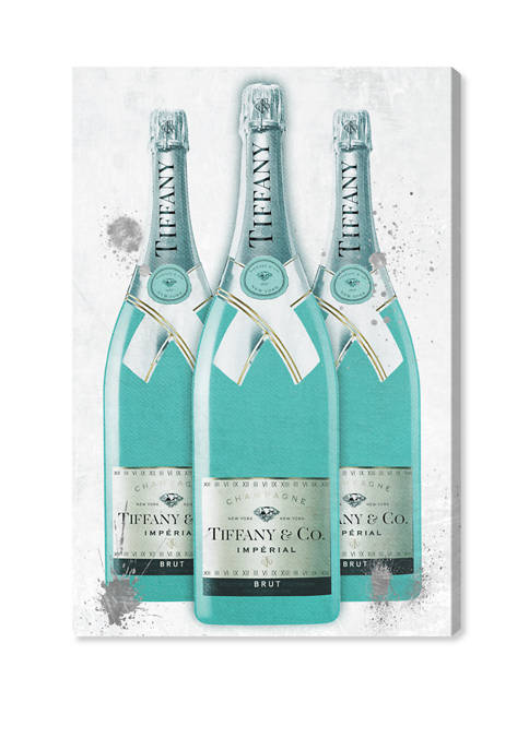 Diamonds and Bubbles Champagne Fashion and Glam Wall Art Canvas Print