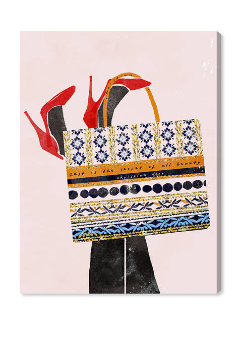Tote Bag in Embroidered Canvas Fashion and Glam Wall Art Canvas Print