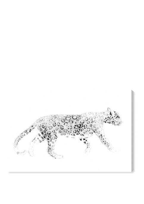 Wild Cat Blanc Animals Wall Art Canvas Print