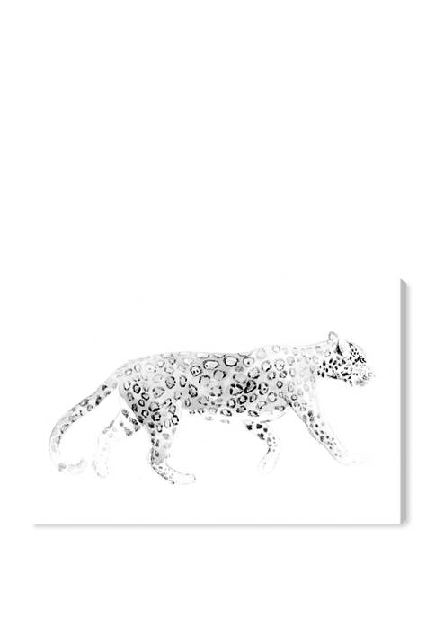 Wild Cat Blanc Animals Wall Art Canvas Print