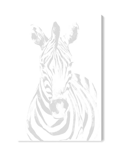 Blanched Zebra Animals Wall Art Canvas Print