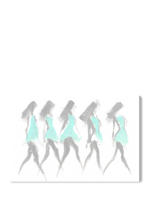 On Our Way to Fashion Fashion and Glam Wall Art Canvas Print