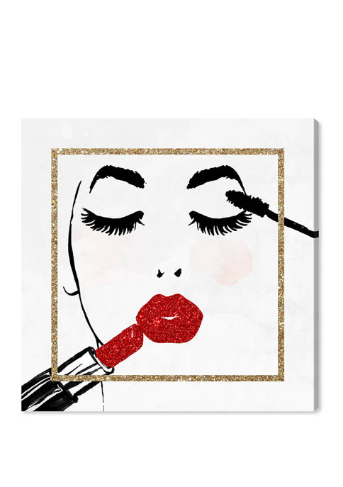 Face Repeat Glitter Fashion and Glam Wall Art Canvas Print