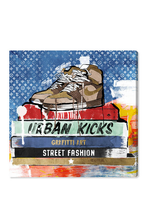 Street Books Fashion and Glam Wall Art Canvas Print