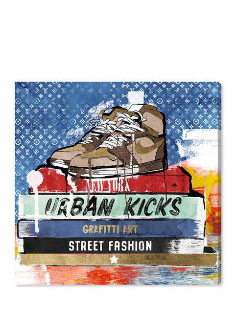 Street Books Fashion and Glam Wall Art Canvas Print