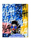 BLAH BLAH BLAH Typography and Quotes Wall Art Canvas Print