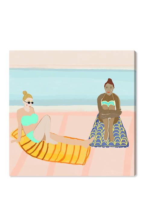 Both Beach Girls Nautical and Coastal Wall Art Canvas Print