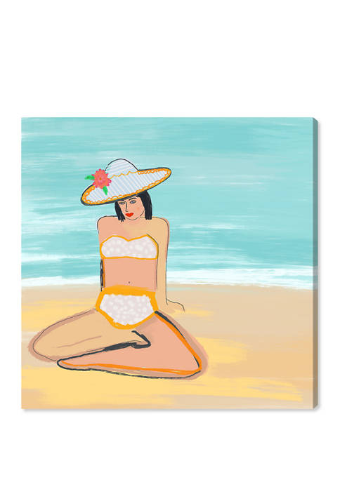 Beach Girl I Nautical and Coastal Wall Art Canvas Print