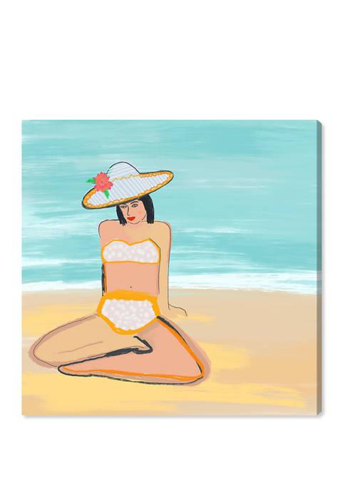 Beach Girl I Nautical and Coastal Wall Art Canvas Print