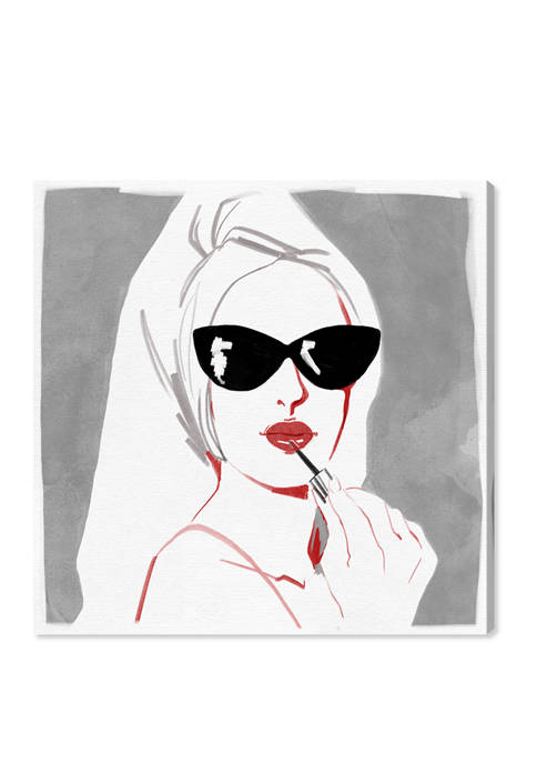 Grey Style Fashion and Glam Wall Art Canvas Print