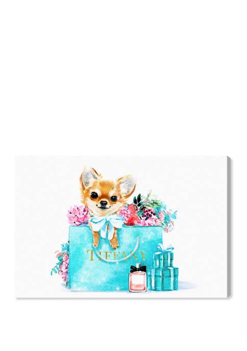 Pretty Divine Pooch Fashion and Glam Wall Art Canvas Print