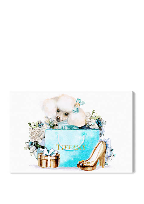 Pretty Divine Poodle Fashion and Glam Wall Art Canvas Print