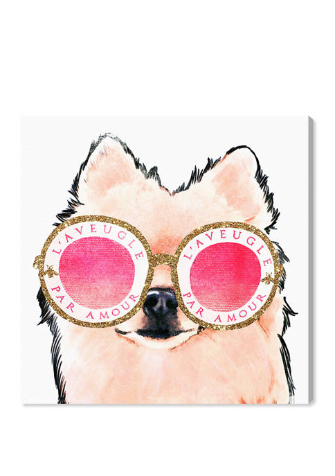 Pomeranian Amour Fashion and Glam Wall Art Canvas Print