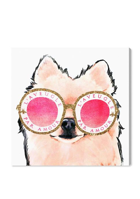 Pomeranian Amour Fashion and Glam Wall Art Canvas Print