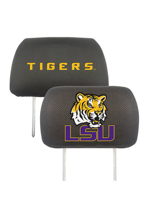 Fanmats NCAA LSU Tigers 2 Piece Embroidered Head