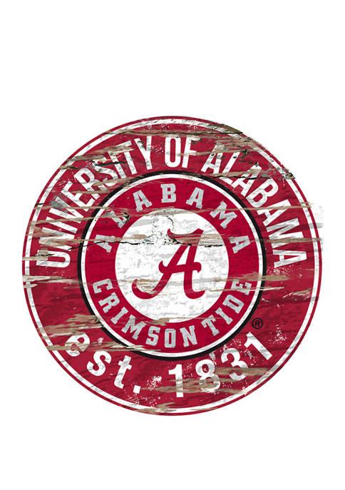 Fan Creations NCAA Alabama Crimson Tide Distressed Round