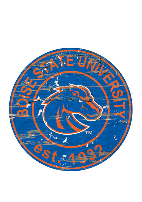 Fan Creations NCAA Boise State Broncos Distressed Round