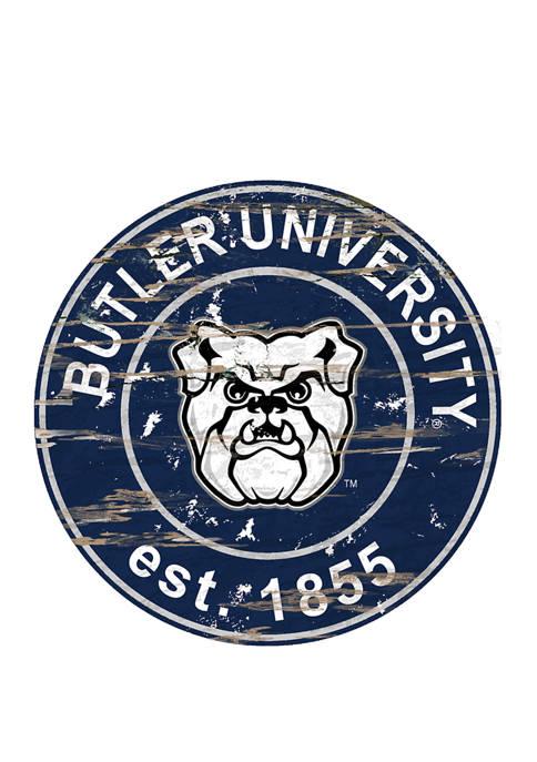 Fan Creations NCAA Butler University Bulldogs Distressed Round
