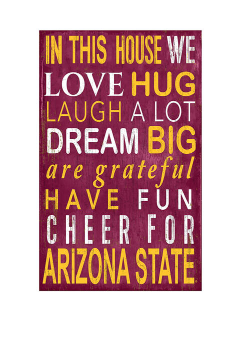 NCAA Arizona State Sun Devils In This House Sign