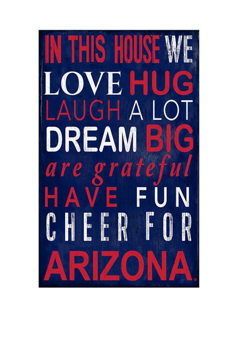 Fan Creations NCAA ArizonaWildcats In This House Sign