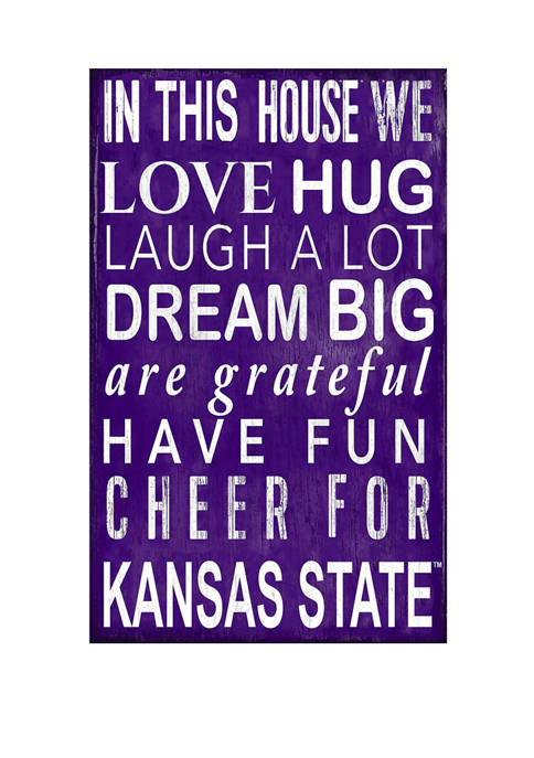 NCAA Kansas State Wildcats In This House Sign