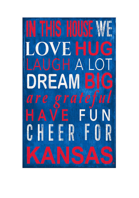 Fan Creations NCAA Kansas Jayhawk sIn This House