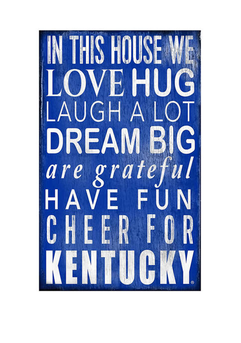 NCAA University of Kentucky Wildcats In This House Sign
