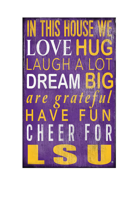 Fan Creations NCAA LSU Tigers In This House