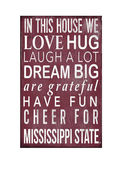 NCAA Mississippi State Bulldogs  In This House Sign