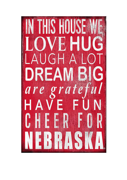 Fan Creations NCAA Nebraska Cornhuskers In This House