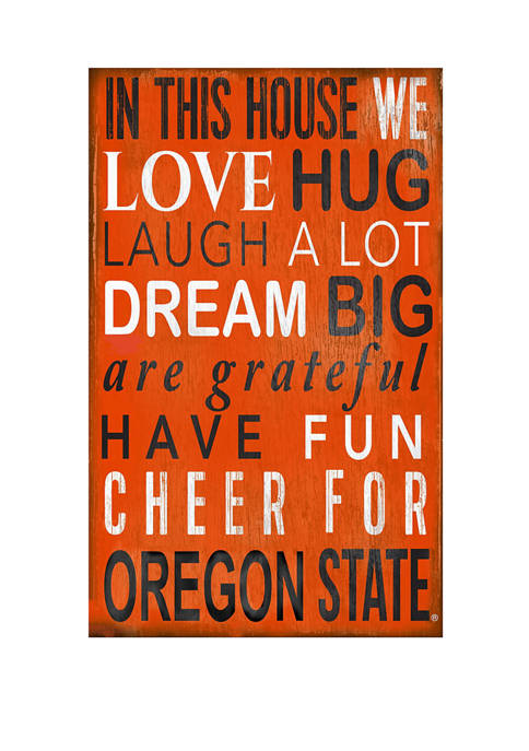 NCAA Oregon State Beavers In This House Sign