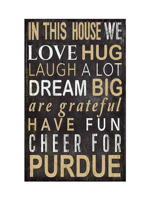 Fan Creations NCAA Purdue Boilermakers In This House
